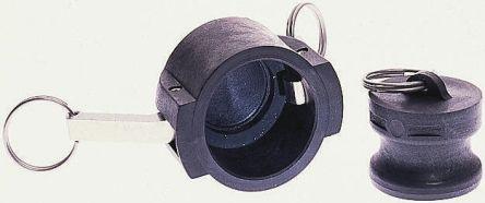 Crayford Plastic Products Double Nipple Dust Plug, Glass Coupled Polypropylene