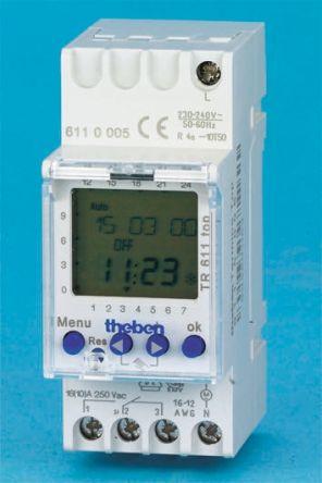Schema Collegamento Orologio Theben : Tr610top timer programmabile rs components