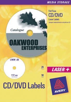l7676 25 avery l7676 25 cd dvdラベル rs components