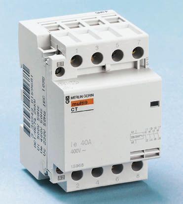Merlin Gerin Contactor 25 Amp 4 Pole Normally Open N//O 15962 400V 230V Coil