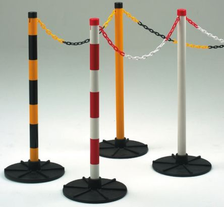 JSP Red & White Post, Kit includes: Base, Chain