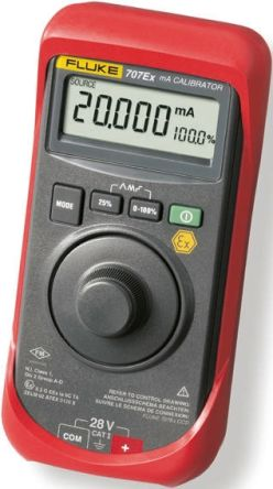 FLUKE-707EX Current Loop Calibrator 24mA RS Calibration