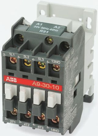 ABB 3 Pole Contactor, 60 A, 110 V ac Coil, A Line, 3NO, 18 5 kW
