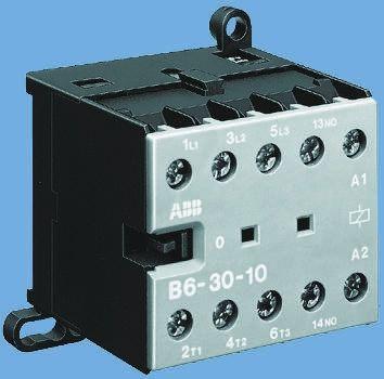 B Range BC6 3 Pole Contactor, 3NO, 9 A, 4 kW, 24 V dc Coil, Screw Terminal