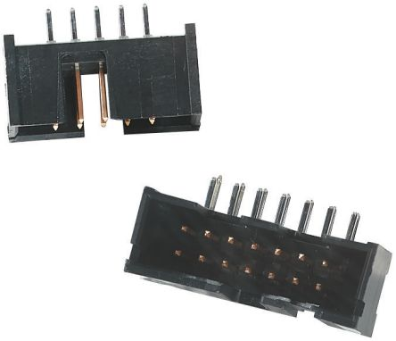 Wire-to-Board 2.54 mm AMP TE CONNECTIVITY 2 Rows 26 Contacts AMP-Latch Series Through Hole Right Angle 5103310-6 Pin Header