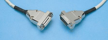 Silver 5m Telephone Extension Cable Male D-Sub Female D-Sub product photo