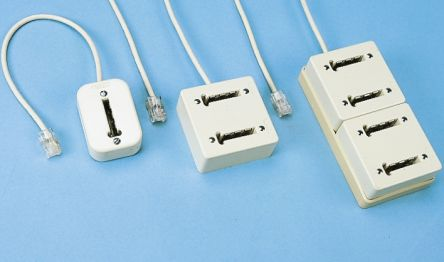 White 1m Telephone Extension Cable to Female RJ45 product photo