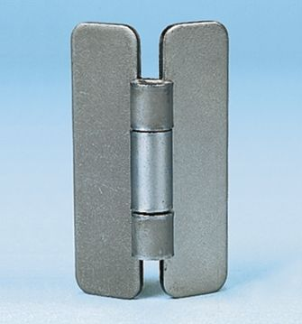 Raw Steel Hinge with a Fixed Pin, 62mm x 44mm x 2mm product photo
