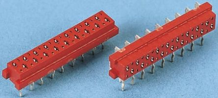 TE Connectivity, Micro-MaTch Industrial, 7-215460 1.27mm Pitch 8 Way 2 Row Right Angle PCB Socket, Through Hole, Solder