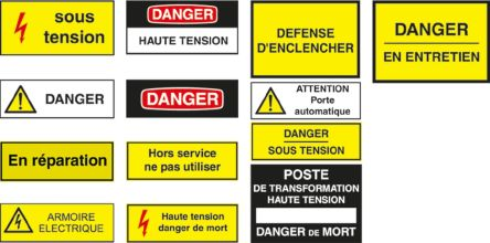 electricity hazard sign with pictogram only aluminium 200 x 200mm 1 hazard warning wolk. Black Bedroom Furniture Sets. Home Design Ideas