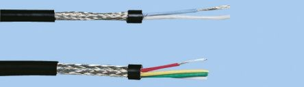 100m 4 Core Screened Black Instrument Cable, 250 V, 4.4mm od , 0.22 mm² CSA product photo