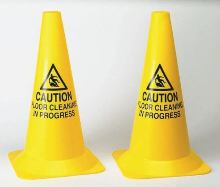PVC safety cone 'SLIPPERY SURFACE'