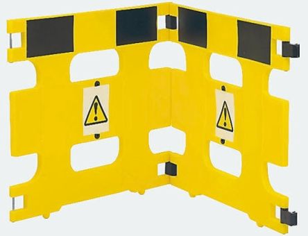 Addgards Yellow Barrier, Barriers & Stanchion, Sign Text Caution 800mm x 970mm. Kit includes: Hinges