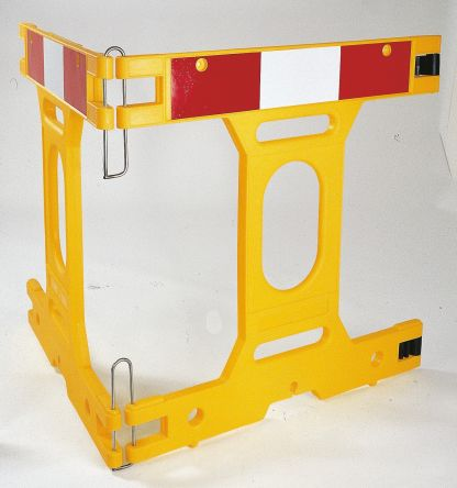 Addgards Red, White, Yellow Barrier, 1m x 1m. Kit includes: Hinges