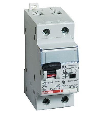 Schema Collegamento Differenziale Magnetotermico : G8813a 16a interruttore magnetotermico differenziale per uso