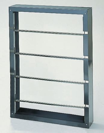 RS PRO Cable Rack 943mm (H) x 152.4mm (L) x 663.6 mm (W) 4 shelves in Steel