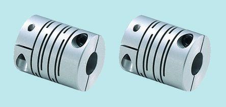Nabeya Bi-Tech Kaisha Aluminium Alloy Flexible Beam Coupling, MST-12C 5X5, Bore A 5mm Bore B 5mm Cla