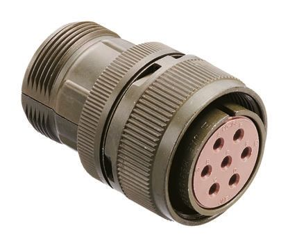10 Way Cable Mount MIL Spec Circular Connector Plug, Socket Contacts,Shell Size 18 product photo