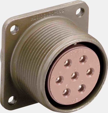 10 Way Box Mount MIL Spec Circular Connector Receptacle, Socket Contacts,Shell Size 18 product photo