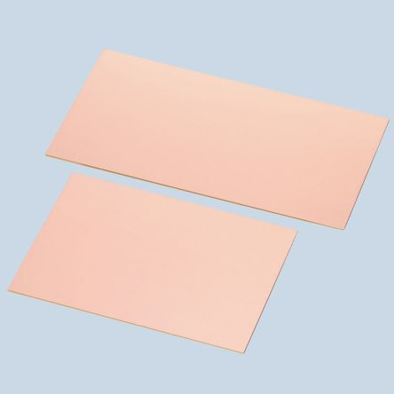 13, Single-Sided Plain Copper Ink Resist Board FR2 With 35μm Copper Thick, 100 x 200 x 1.6mm