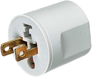 Lighting plug 2-pole 10A/250VAC white (D