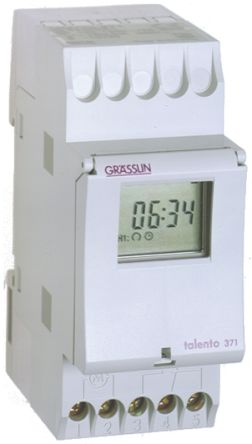 1 Channel Digital DIN Rail Switch Measures Minutes, 250 V ac