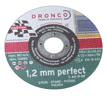 DRONCO Cutting Disc, 115mm Diameter, 1.2mm Thick