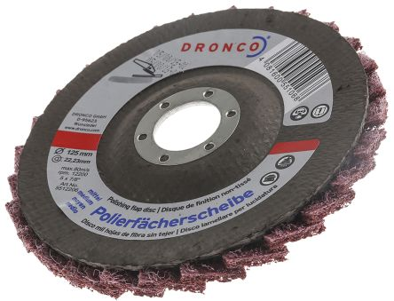 DRONCO Zirconium Dioxide Medium Flap Disc, 80 Grit, 125mm x 22mm Bore