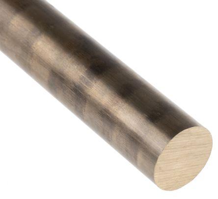 Phosphor bronze rod,13in L 1in dia