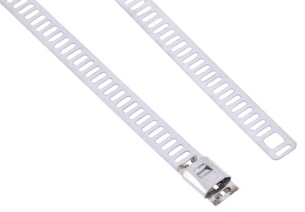 a274e8e6f6e4 RS PRO Metallic 316 Stainless Steel Ladder Cable Tie, 300mm x 7 mm ...