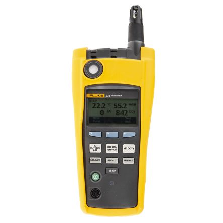 Fluke 975 Air Quality Monitor, with data logging, with LCD - Backlit display