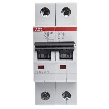 System M Pro S200 MCB Mini Circuit Breaker 2P, 6 A, 10 kA, Curve C