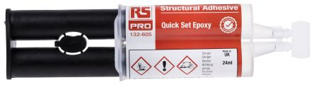 RS PRO 24 ml Transparent Dual Cartridge Epoxy