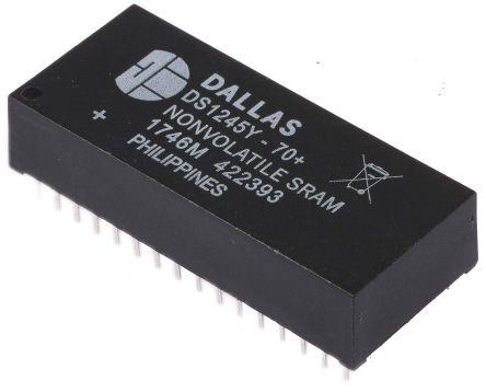 Maxim DS1245Y-70+ NVRAM, 1Mbit, 70ns, 5V 32-Pin EDIP