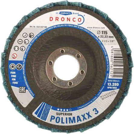 DRONCO Flap Disc, 115mm x 22mm Bore