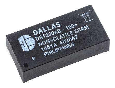 Maxim DS1230AB-100+ NVRAM, 256kbit, 100ns, 5V 28-Pin EDIP