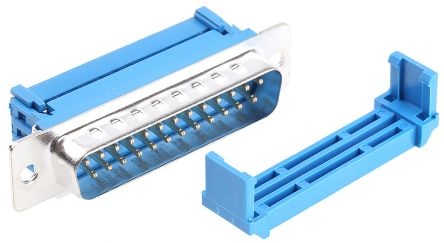 1.27mm Pitch 25 Way IDC D-sub Connector, Plug, Steel Shell product photo