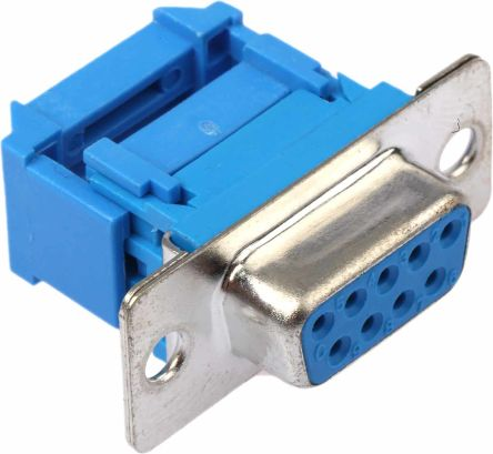1.27mm Pitch 9 Way IDC D-sub Connector, Socket, Metal Shell product photo