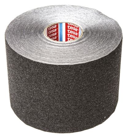 Black Anti-Slip Flooring PVC Tape With Solid Surface Finish product photo