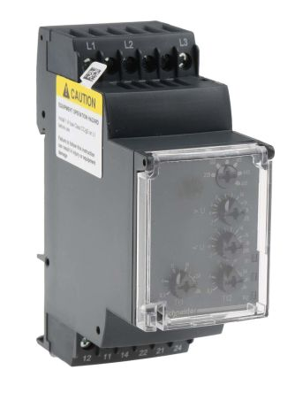 Schneider Electric Voltage Monitoring Relay with DPDT Contacts 3