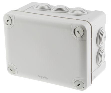 Schneider Electric Mureva Junction Box, IP55, 105mm x 80mm x 150mm