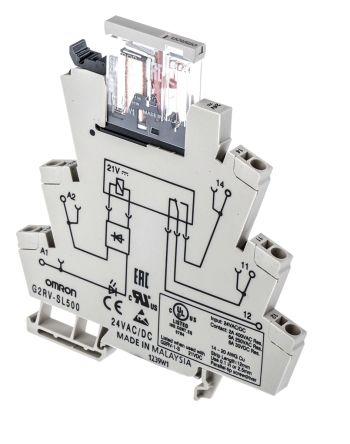G2RV-SL500 AC//DC24 General Purpose Relay G2RV Series Power Non Latching SPDT 24