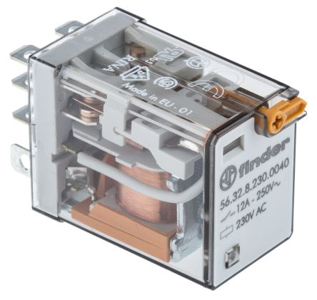 Groovy 60 12 8 230 0040 Finder Dpdt Non Latching Relay Plug In 230V Ac Wiring Digital Resources Indicompassionincorg