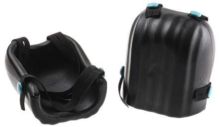 RS PRO Polyurethane (PU) Adjustable Strap Knee Pad, Black