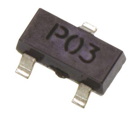 Diodes Inc DMN32D2LFB4-7 N-channel MOSFET 300 mA 30 V 3-Pin DFN