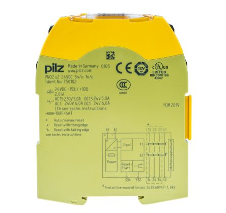 Mini Fuse Power Dist Panel likewise Safety Interlock Wiring Diagram together with Pilz Pnoz S2 Wiring Diagram also  on omron safety relay wiring diagram