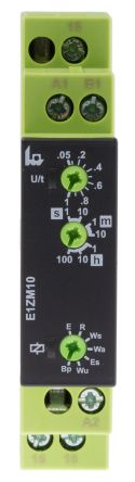 Tele Flash Pause First, OFF Delay, ON Delay, ON Delay with Control Contact, One Shot Leading Edge Voltage Controlled,
