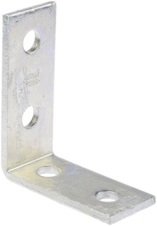 p 1325 unistrut galvanised steel 4 hole r a bracket 176 179 rs