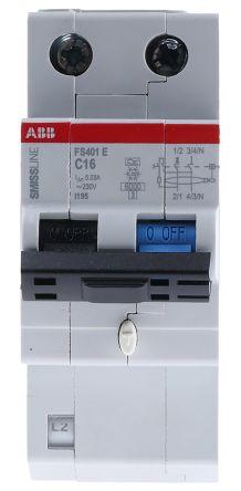 2P 16 A, RCD Switch, Trip Sensitivity 30mA SMISSLINE FS401