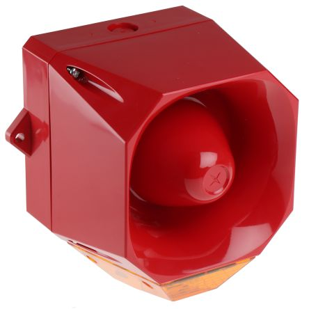 Asserta Midi Sounder Beacon, 108dB, Amber LED, 9